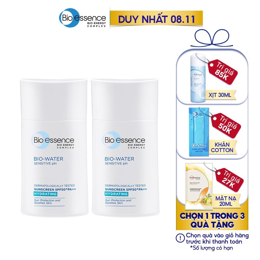 [Mã COSMALL11 -10% ĐH 250K]Combo 2 Kem chống nắng Bio-Essence Miracle Bio Water Cooling Sunscreen 40ml/chai