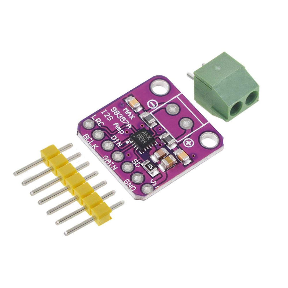 MAX98357 I2S Plug-and-Play Lightweight Compact Filterless Class D Efficent Audio Amplifier Module For Raspberry Pi Esp32 Giá chỉ 95.000₫