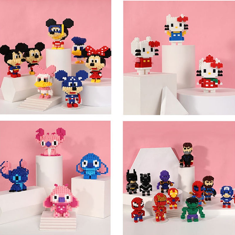 Children's micro diamond educational toys with small particles and building blocks Disney Diamond Diamond Diy Particles Lego