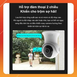 Camera ngoài trời QCT xoay 360 độ gen2 bộ nhớ 64GB 1296p 2k quốc tế thumbnail