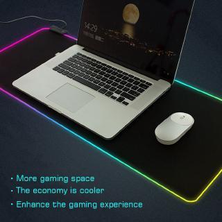 Thảm lót bàn phím và di chuột RGB có đèn LED cỡ lớn dành cho người chơi game máy tính bàn PC / Laptop