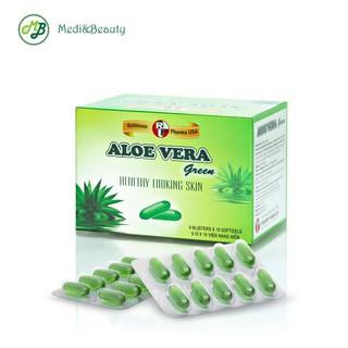 Viên uống Thải độc da,Thanh nhiệt, đẹp da, Nhuận tràng ALOE VERA Green - MediBeauty- hộp 60 viên thumbnail