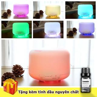[khocongnghe] – Máy phun sương khuếch tán tinh dầu máy tạo ẩm tích hợp đèn ngủ đổi màu TẶNG KÈM TINH DẦU