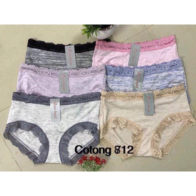 Combo 10 Quần lót Cotton viền ren 812 hàng Thái Lan chính hãng - 2420973 , 943769312 , 322_943769312 , 399000 , Combo-10-Quan-lot-Cotton-vien-ren-812-hang-Thai-Lan-chinh-hang-322_943769312 , shopee.vn , Combo 10 Quần lót Cotton viền ren 812 hàng Thái Lan chính hãng