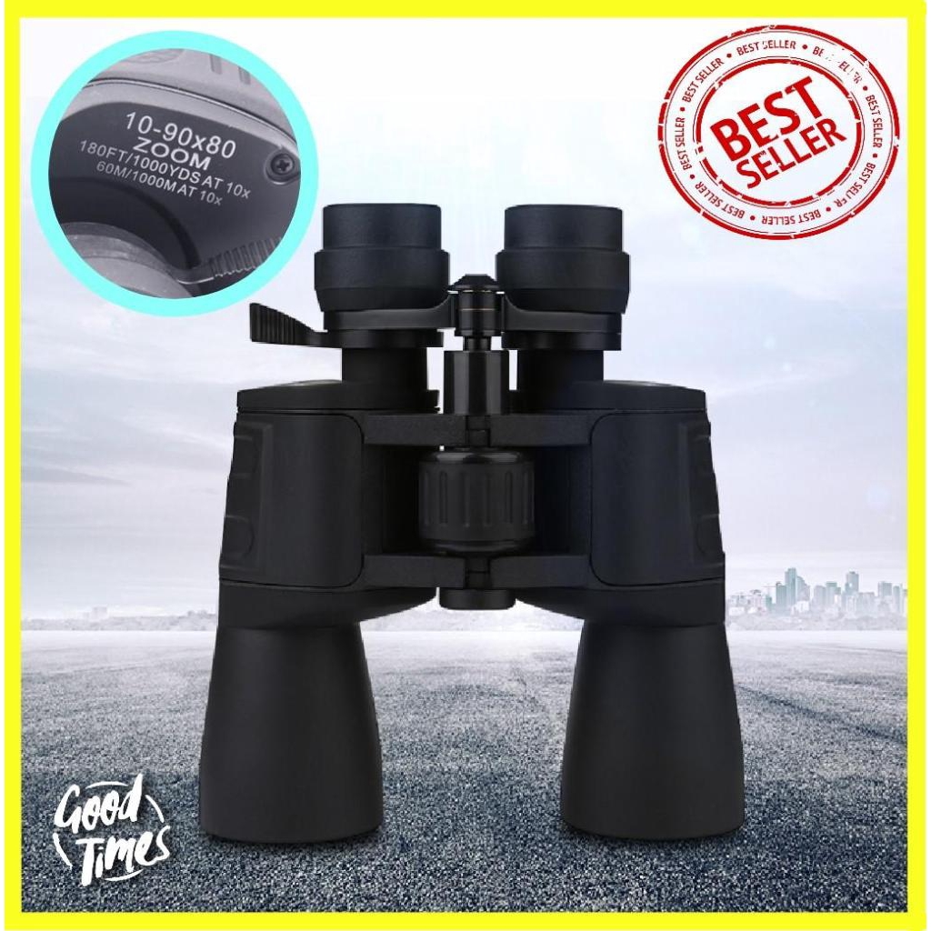 Safe กล้องส่องทางไกล กล้องส่องระยะไกล Super Zoom 10-90x80 High Magnification HD Professional กล้องส่องทางไกลกลางแจ้ง กล้