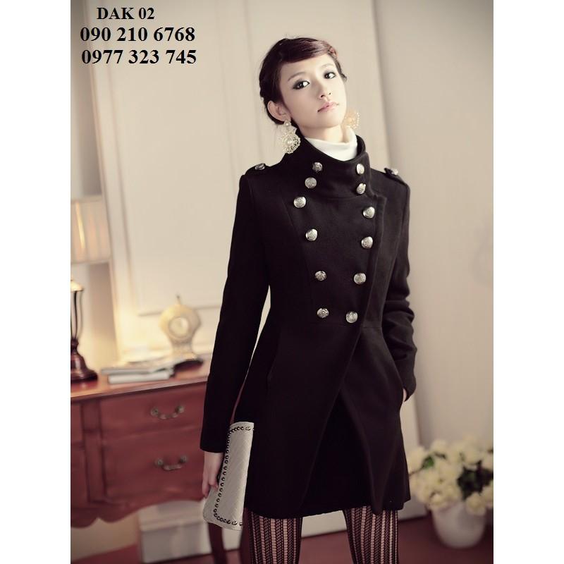 Aó khoác dạ nữ phong cách Hàn Quốc