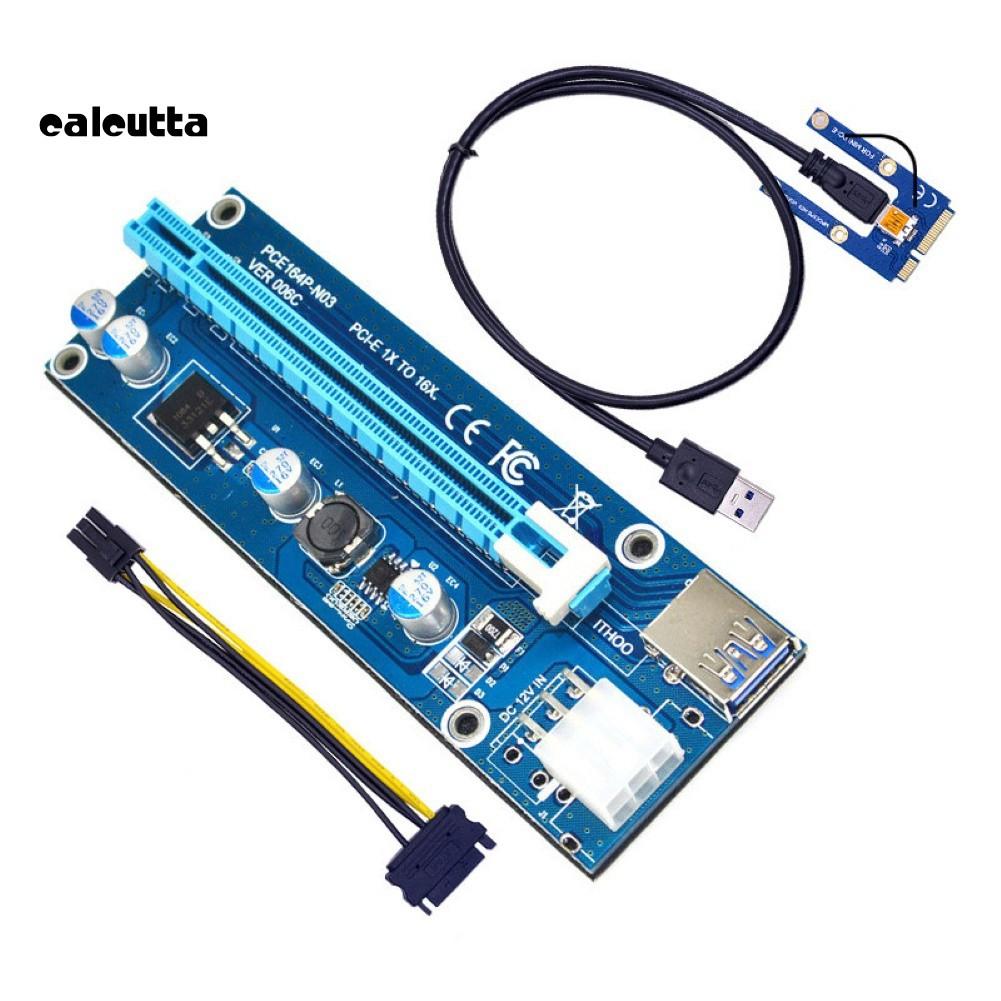 [Mã CBEL06 giảm 20% đơn 50k] ✡YYJ✡Mini PCI-E to PCI-E x16 Riser External Graphics Card + 60 USB cable for Laptop