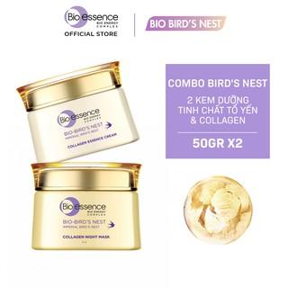 Bộ dưỡng da Bio-Essence Bio-Bird s Nest (Kem dưỡng tinh chất tổ yến & Collagen 50gr + Mặt nạ ngủ Night Mask 50gr) thumbnail