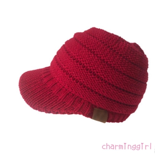 ✨NOW-Women Fall Winter Knitting Peaked Beanie Hat Solid Cotton Warm Soft Lady Casual Cap