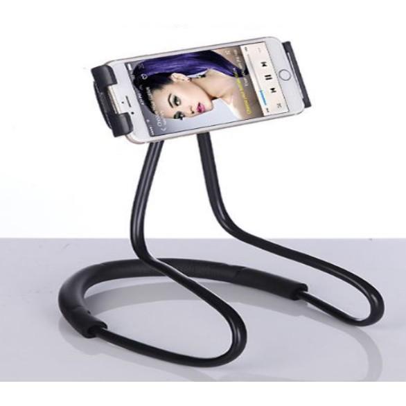 Kẹp điện thoại quàng cổ, hông, nằm xem điện thoại
