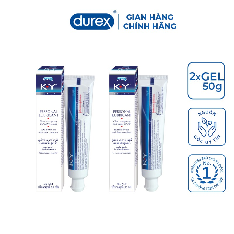 Bộ 2 gel bôi trơn Durex K-Y Jelly 50g/hộp