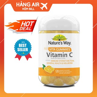 Kẹo dẻo bổ sung Vitamin C cho người lớn Nature's Way Vitamin C Vita Gummies for Adults 120 viên