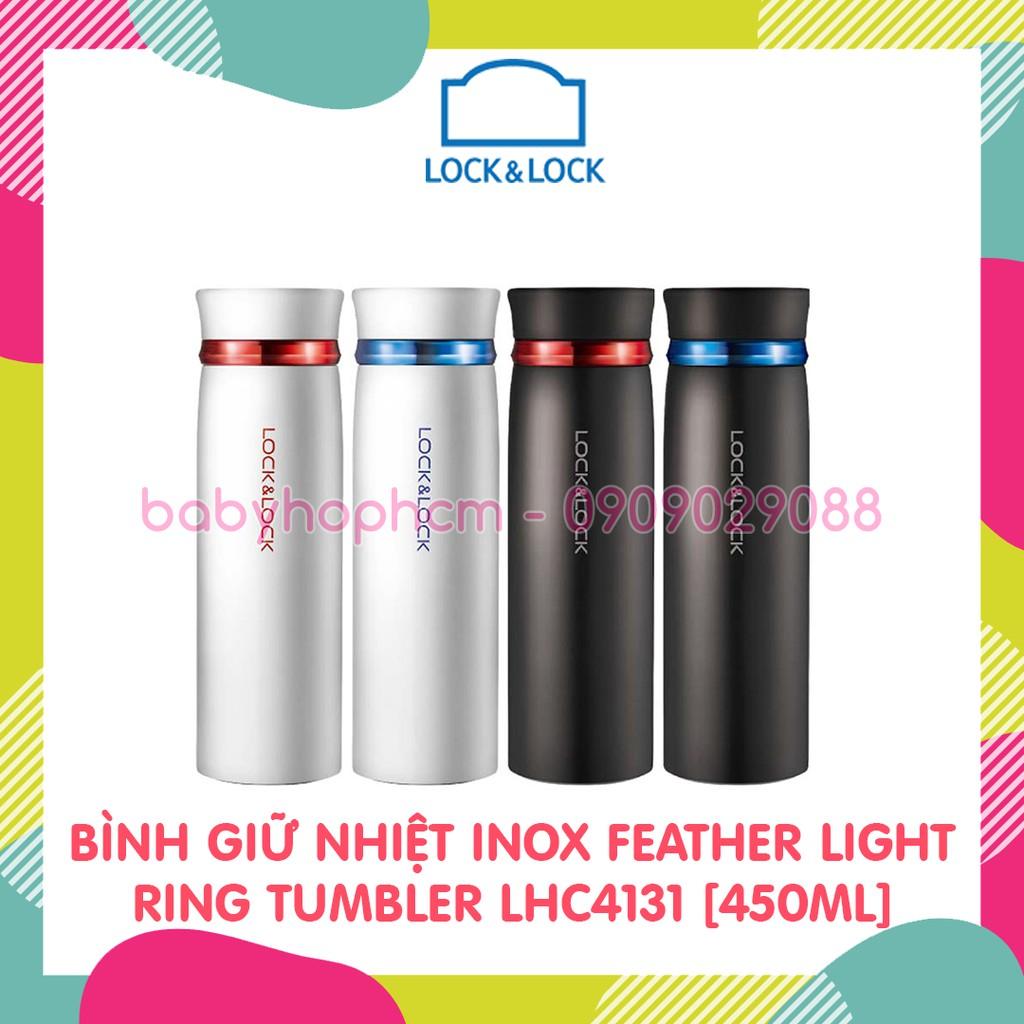 [LOCK&LOCK CHÍNH HÃNG] BÌNH GIỮ NHIỆT INOX FEATHER LIGHT TUMBLER LHC4131 [450ML]
