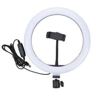 Bộ đèn LED Livestream 26cm 3 chế độ màu tích hợp giá kẹp điện thoại