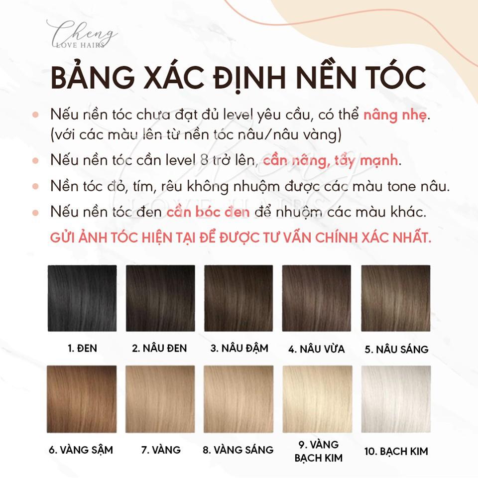 Thuốc nhuộm tóc VÀNG TRO - VÀNG KHÓI