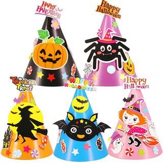 濾HOT濾Halloween Children Hat DIY Cartoon Witch Handmade Toys