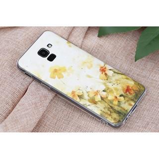 Ốp lưng Galaxy J6 Nhựa dẻo solid in hình Hoa vàng nhập khẩu