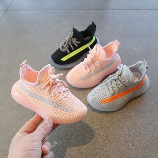 Children's coconut shoes 2021 summer new Korean girls sports shoes spring and autumn breathable fly woven mesh boys net shoes