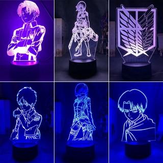 Đèn LED để bàn 3D 7 màu phong cách Attack On Titan