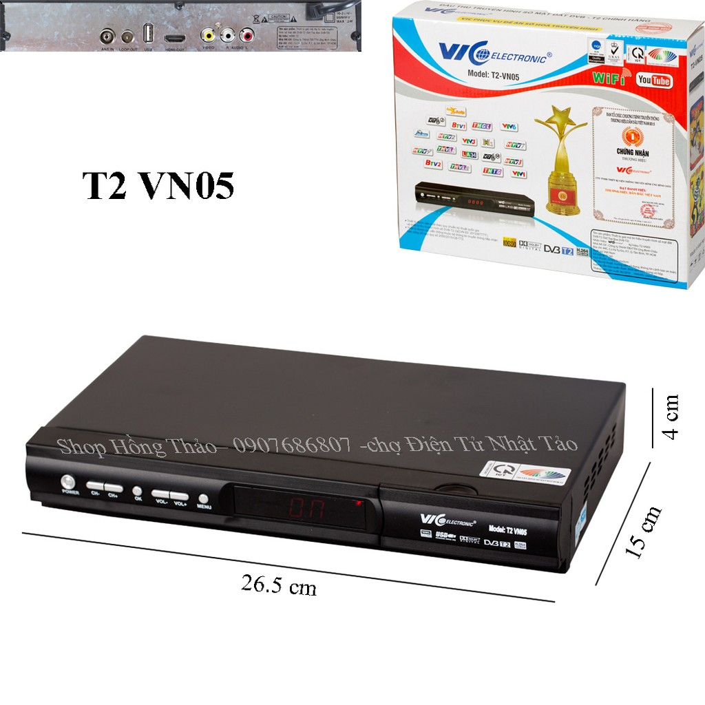 Đầu Thu Truyền Hình Kỹ Thuật Số Mặt Đất T2 VN05 VIC Electronic