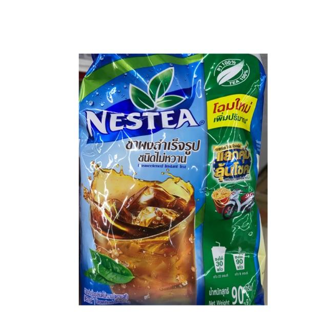 (มีเก็บเงินปลายทาง) ชาผงสำเร็จรูปชนิดไม่หวาน ตราเนสที 90 กรัม (Nestea)