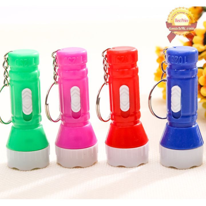 Đèn pin mini móc khóa nhựa soi ban đêm   Đèn led