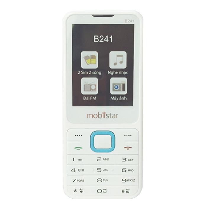 ĐTDĐ Mobiistar B241 2 SIM (Trắng Xanh)