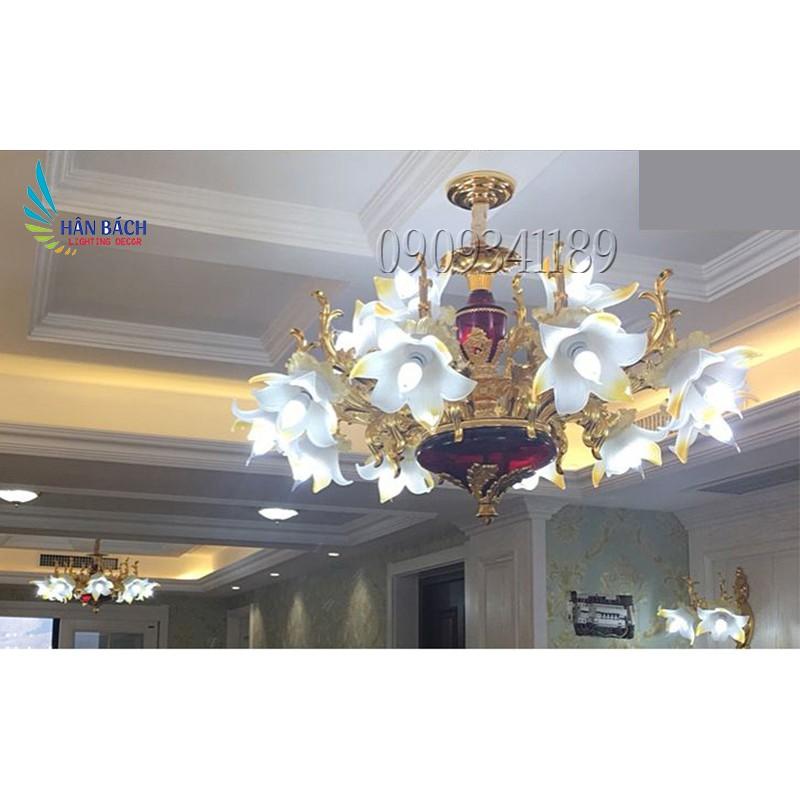 Đèn chùm GANKER phong cách hiện đại 15 tay - kèm bóng LED chuyên dụng