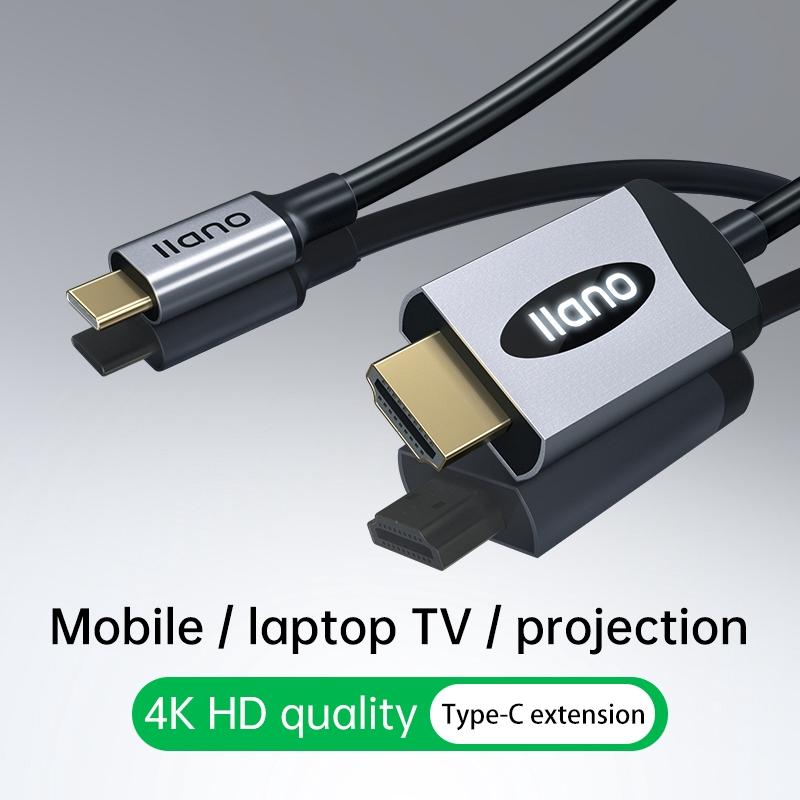 Dây cáp điều hợp Illano LCH2018B chuyển đổi video loại C tới HDMI 1.8m