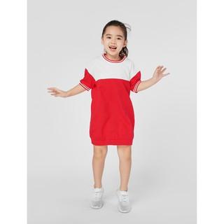 Váy liền bé gái phối màu 1DS19C006 Canifa