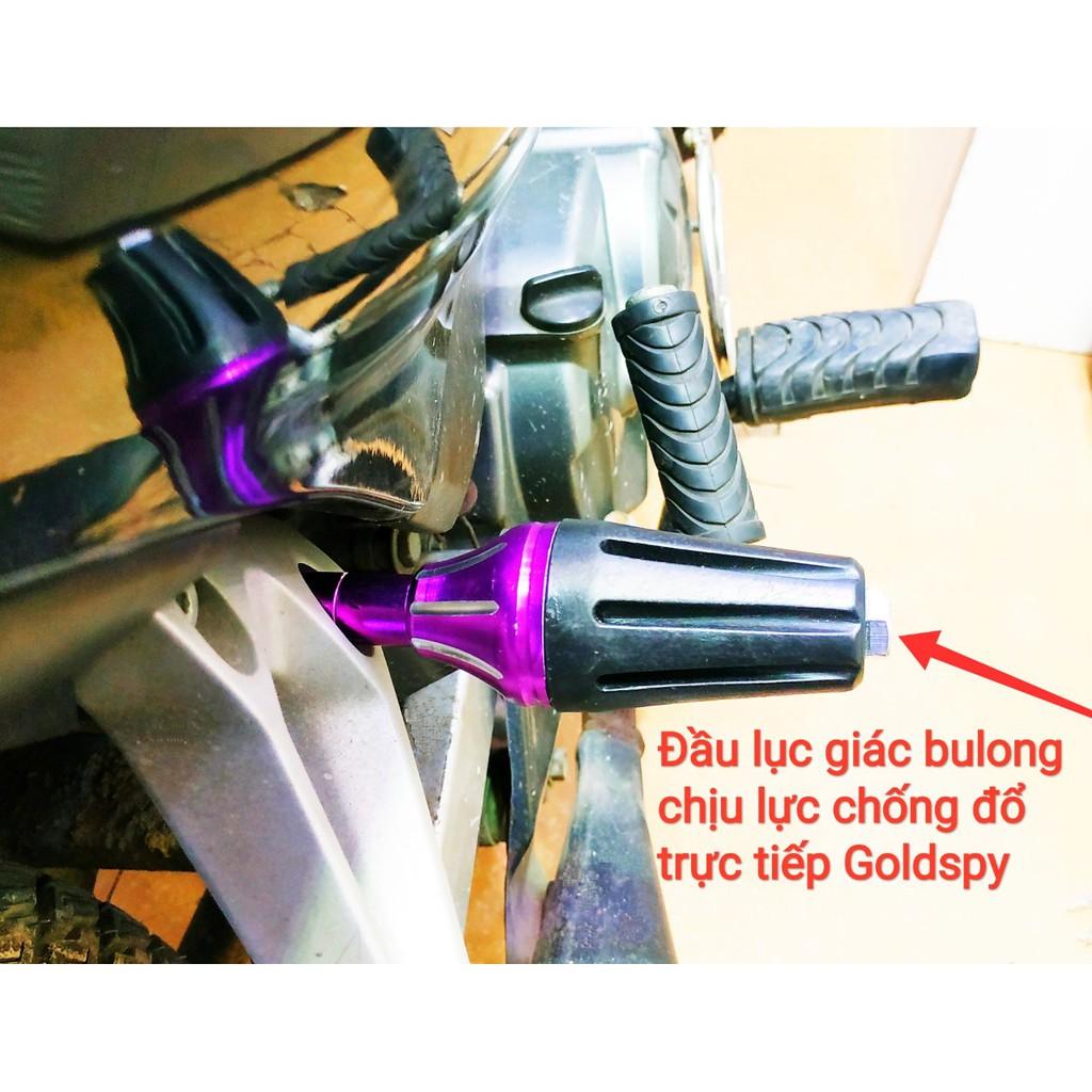 Gù chống đổ sau xe máy nhôm CNC ( bulong dài 15cm ) giá 1 đôi
