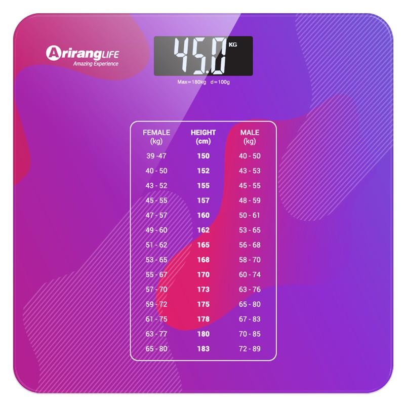 [Mã FMCGMALL giảm 8% đơn từ 250K] Cân sức khỏe điện tử ArirangLife AR-S18A