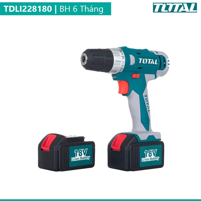 Máy khoan vặn vít dùng pin Total TDLI228180 18V - 2590872 , 489857495 , 322_489857495 , 1692000 , May-khoan-van-vit-dung-pin-Total-TDLI228180-18V-322_489857495 , shopee.vn , Máy khoan vặn vít dùng pin Total TDLI228180 18V