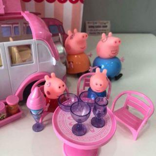 Bộ gia đình lơn peppa pig đi picnic