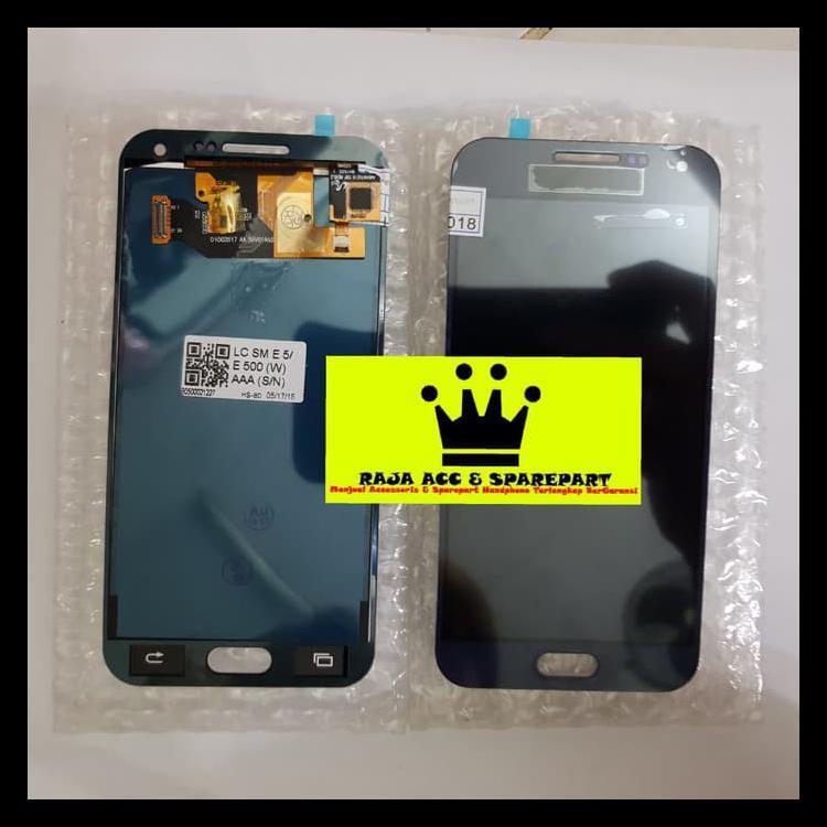 PROMO MURAH LCD + TOUCHSCREEN SAMSUNG GALAXY E500 BISA KONTRAS BERGARANSI - HITAM