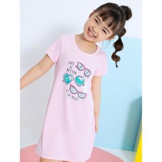 Váy liền bé gái cotton in hình dễ thương CANIFA 1DS20S007
