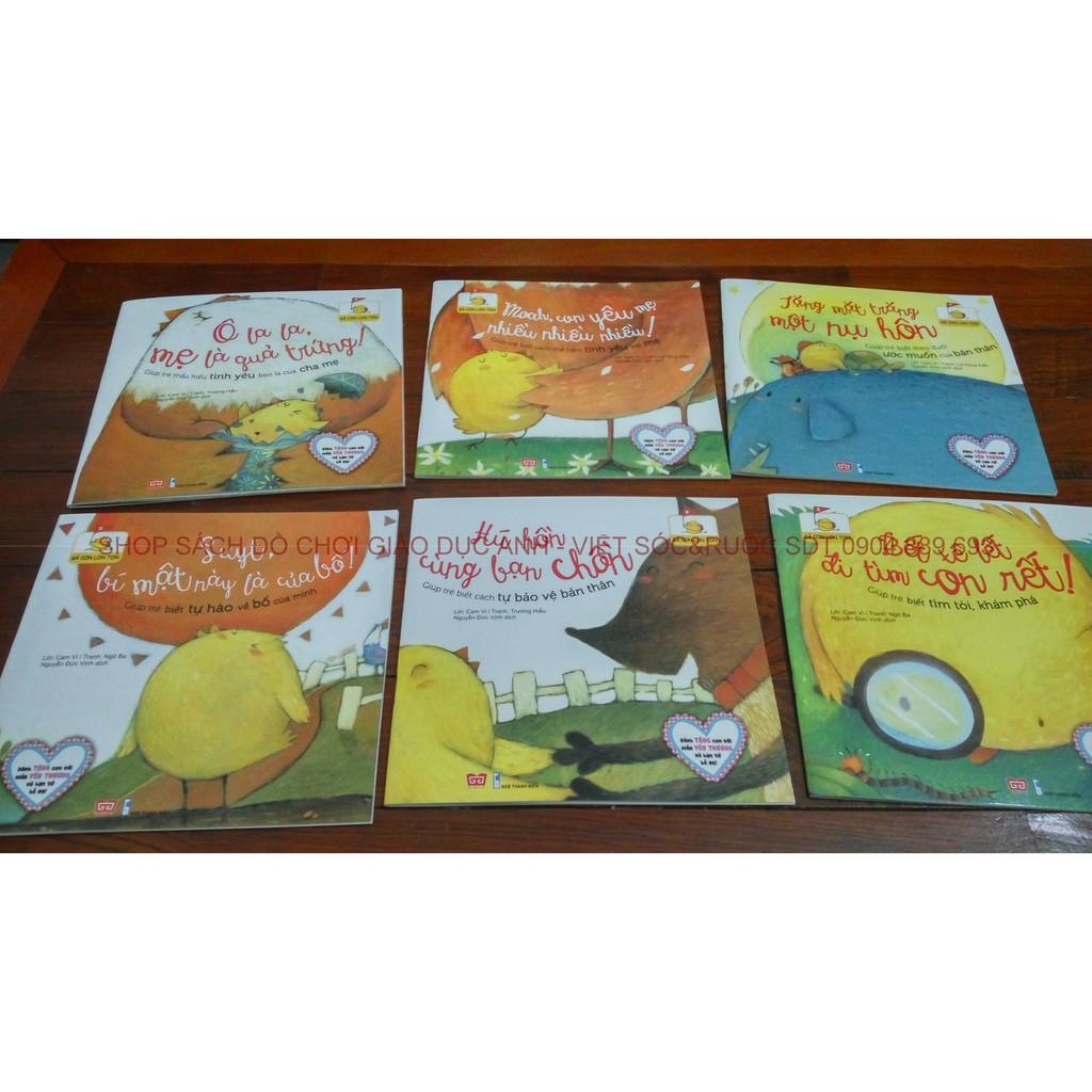 Sách truyện hay cho trẻ em: Gà con lon ton - Set 06 cuốn giáo dục tình cảm gia đình - 2611554 , 56850499 , 322_56850499 , 120000 , Sach-truyen-hay-cho-tre-em-Ga-con-lon-ton-Set-06-cuon-giao-duc-tinh-cam-gia-dinh-322_56850499 , shopee.vn , Sách truyện hay cho trẻ em: Gà con lon ton - Set 06 cuốn giáo dục tình cảm gia đình