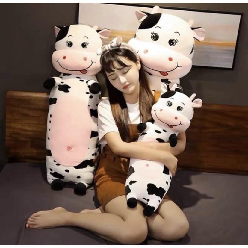 Gối ôm bò sữa ⚡RẺ VÔ ĐỊCH⚡ Bông PP 3D tinh khiết an toàn cho trẻ nhỏ