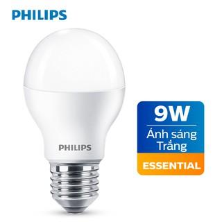 Bóng đèn Philips LED Essential 9W E27 230V A60 - Ánh sáng trắng Ánh sáng vàng thumbnail