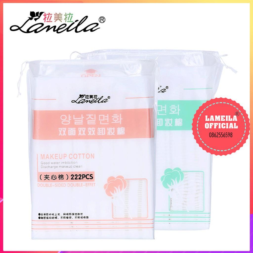 Combo 10 Bông tẩy trang Lameila 222 miếng chính hãng