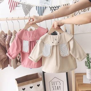 Áo Khoác Gió Vải Cotton Kiểu Hàn Quốc Thời Trang 2020 Cho Bé Gái