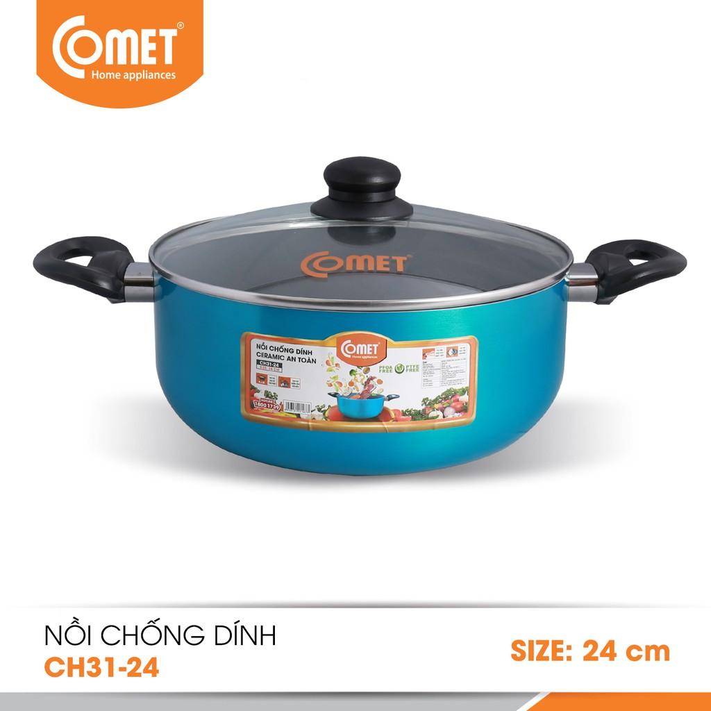Nồi chống dính Ceramic an toàn Comet CH31-24