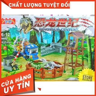 [HOT]Lego YE88002 Lắp Ráp Công Viên Khủng Long – Dinosaur Century ( 637 Mảnh )-Hàng có sẵn