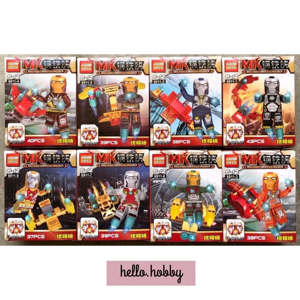 Đồ chơi lắp ráp Ironman 8 hộp 6911