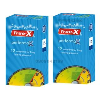 Bộ 2 Hộp Bao cao su True-X PerformaX- Extra time kéo dài thời gian hộp 12 cái thumbnail