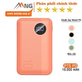 Pin sạc dự phòng mini chính hãng Rock space P75 chuẩn PD 10.000 mAh sạc nhanh cho iPhone, samsung, vsmart, Oppo