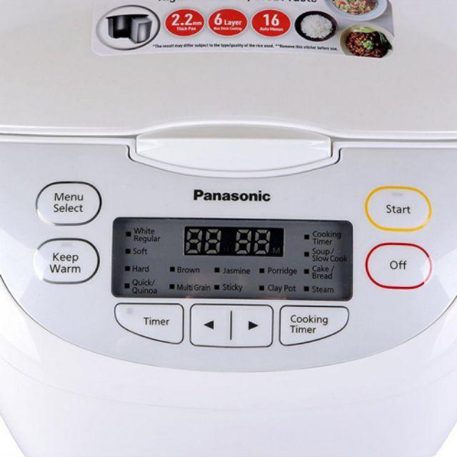 Nồi cơm điện tử Panasonic dung tích 1.8 lít SR-CL188WRA sản xuất Malaysia - Hàng chính hãng bảo hành 12 tháng