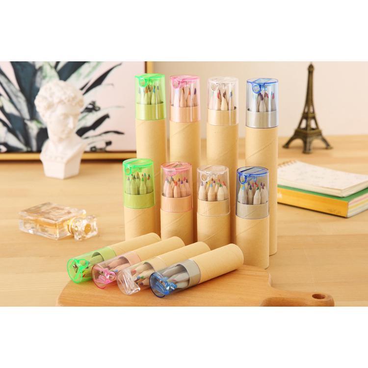 12pcs Color Pencils with Sharpener Student Drawing Pencils