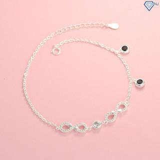 Lắc chân nữ bạc thật hình vô cực đính đá đẹp LCN0058 - Trang Sức TNJ