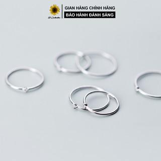 Nhẫn bạc 21 Centimeters Simple Diamond Trang sức bạc Tiệm bạc 21 Centimeters